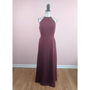 Bari Jay Wine Burgundy Color Bridesmaids Dress